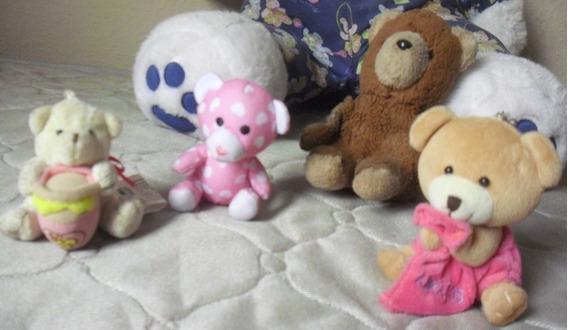 5 Ursos Pelúcia Dorminhoco Gigante 84 Cm + 4 Pq Ursinhos