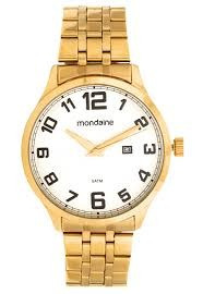 Relógio Mondaine Masculino Dourado 35323