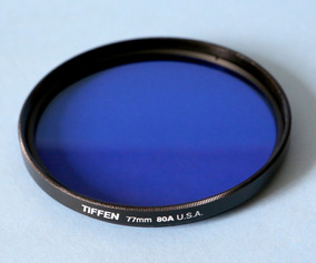 Filtro Tiffen 80a Azul 77mm Luz Tungstênio Lente Canon Nikon