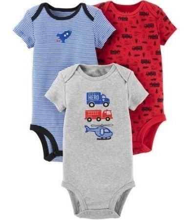Enxoval Roupa De Bebe Macacão Body Kit 3 Peças Carters