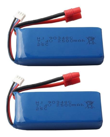 Kit 2 Baterias 903480 7.4v 2500mh X8g X8hc X8hw X8hg Promoçã