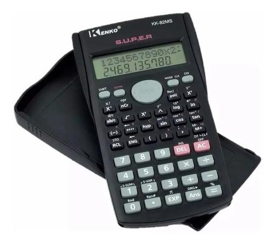 Calculadora Científica Kenko 240 Funções C/ Capa Kit Com 04