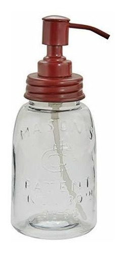 Imagen 1 de 1 de Dispensador De Jabon Mason Jar - Rojo
