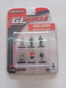 Figuras Escala 1/64 Greenlight Gl Muscle Set 6 Monos Nvos