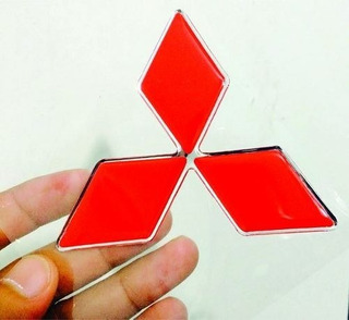 Adesivo Resinado Logo Mitsubishi 6,0cm 1und.