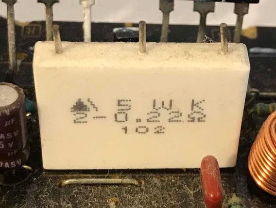 Resistor Duplo 0.22r 5w Sony
