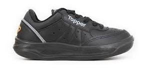 Topper X Forcer Kids Negra Cuero