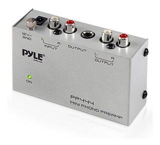 Preamplificador De Tornamesas Pyle Phono - Mini Preamplif