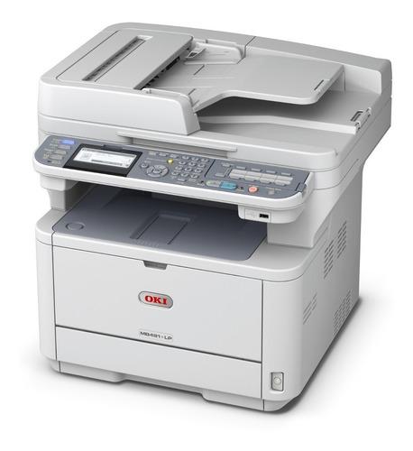 Impresora Multifuncion Okidata Mb491lp Oficio Duplex Usb Red