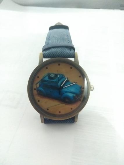 Reloj Azul Tipo Vintage De Bocho Los Pits