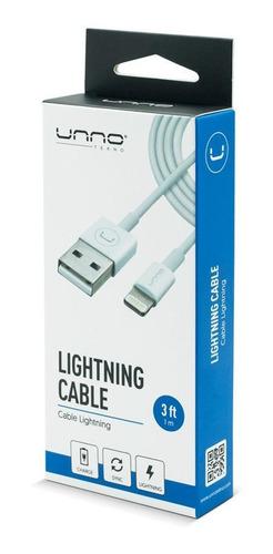 Cable De iPhone Lighting Usb 1.5m/5ft Unno Tekno Cb4053wt