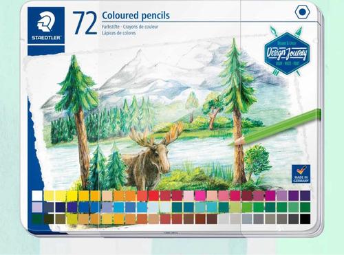 Lápices De Colores ,72 Coloured Pencils Staedtler Alemán