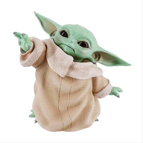 Imagen 1 de 6 de Figura Baby Yoda Grogu Pvc Miniatura Coleccionable Star Wars