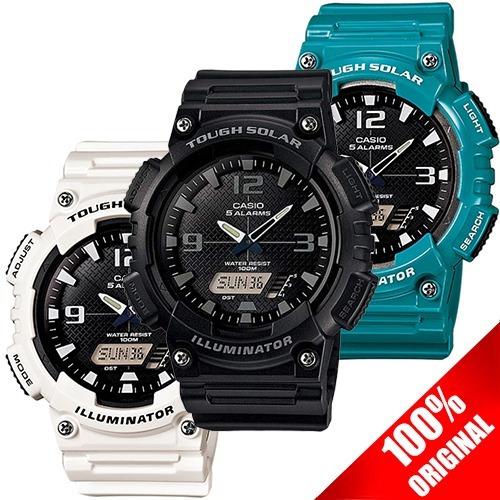 Reloj Casio Mundial Alarma Solar Aqs810 Hora Cronometro wkulPTiOXZ