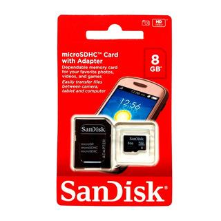 Cartao Memoria Micro Sandisk 8gb Kit C/ 10 Uni Pronta Entreg