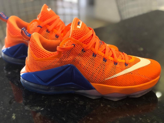 Tenis Nike Lebron James 12 Low Orange 42 Zerado