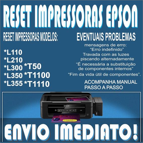 Reset Epson L355 - L110 - L210 - L350-l300 -t50 - T1100-1110