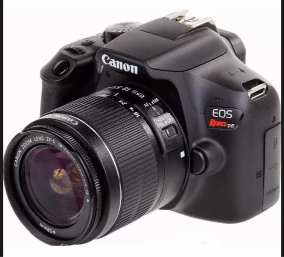 Câmera Canon T6 + Lente 18_55mm.