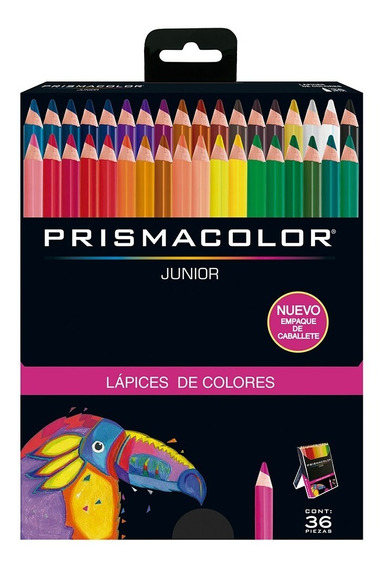Colores Prismacolor Junior Redondos Caja X36 Punta 4mm