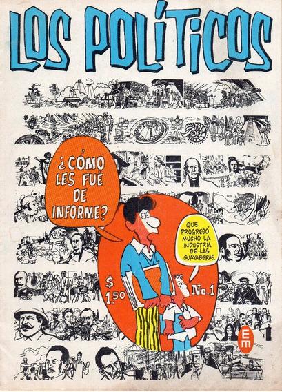Los Políticos No. 1 - Noviembre De 1971- Editorial Meridiano