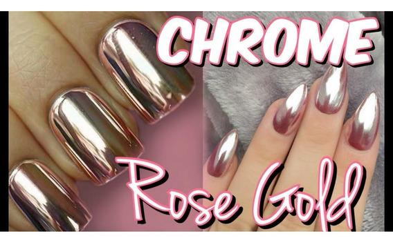 Polvo Efecto Espejo Mirror( Rose Gold) Deco Uñas