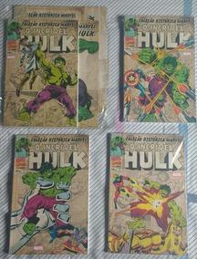 Hqs Coleção Histórica Marvel O Incrível Hulk Completo 4 Unds