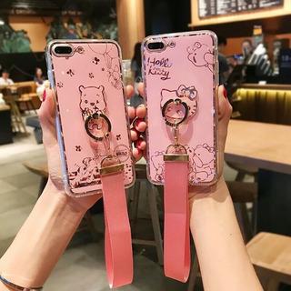 A Funda iPhone 6 Plus Hello Kitty Pink Colguije Anillo