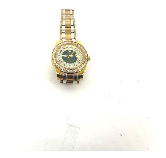 Relógio Rolex Feminino Com Strass Lindo