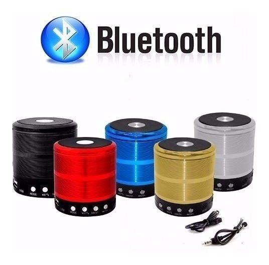 Caixinha De Som Bluetooth Portátil Pequena Redonda Barata