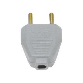Plug Chato Macho 2p 10a/250v Cinza Granel Interneed