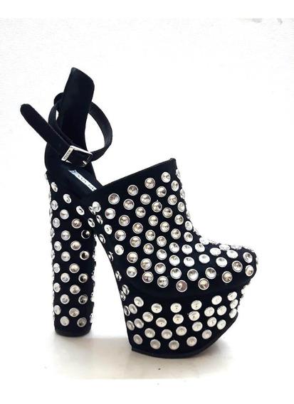 Sandalia Con Tachas Luciano Marra Calzado De Mujer 5741