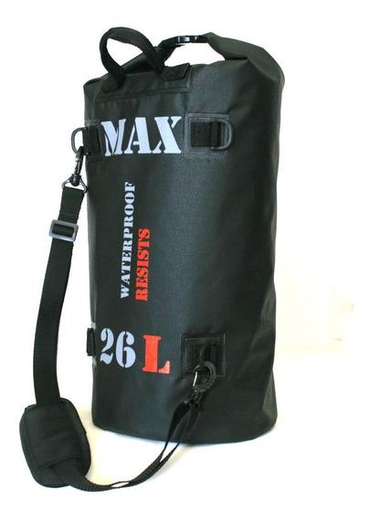Bolsa 100% Impermeável P/ Viagem Motocicleta Moto Max Bag 26