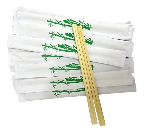 200 Pares Hashi Waribashi Bambu Descartável Sushi Yakissoba