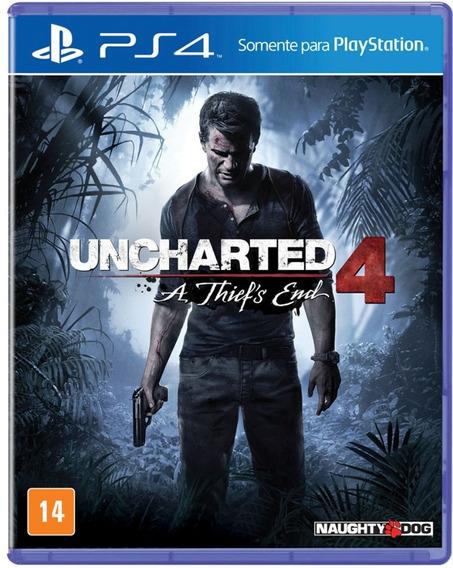Uncharted 4 A Thiefs End Ps4 Mídia Física Lacrado