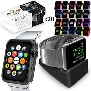 Funda Case Apple Watch 2 3 Frente Silicona 38 42 Protector