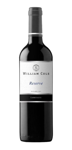 6 William Cole Reserve Carmenere Ref. Retail $30.000
