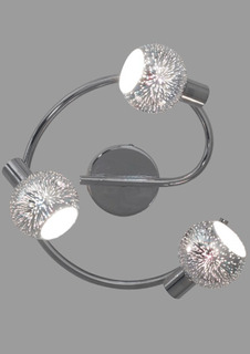 Plafon Tres D Circular Cormado De 3 Luces Apto Led