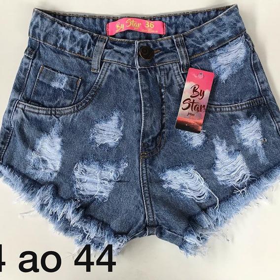 Kit Com 3 Short Hot Pant/ Cintura Alta/short Feminino