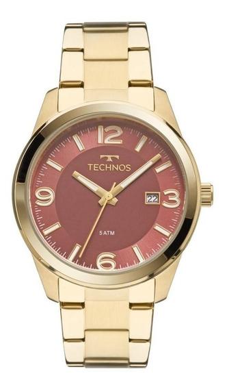 Relógio Feminino Technos Dourado Vinho Rose Aço Inoxidável