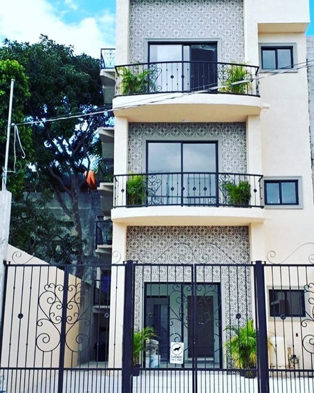 Edificio 6 Departamentos 1 Estudio En Quinta La Avenida, Playa Del Carmen