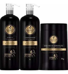 Haskell Cavalo Forte Kit 1l Shampoo+condicionador+máscara