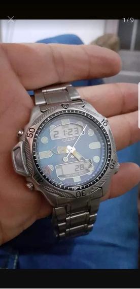 Relógio Citizen C500 Dúplex Fundo Azul