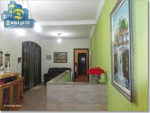 Sobrado Com 4 Dormitórios À Venda, 285 M² Por R$ 530.000,00 - Parque Novo Oratório - Santo André/sp - So0980