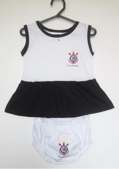 Vestido Bebê Corinthians - Tamanho G