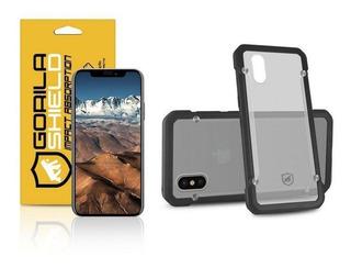 Capa Grip Shield E Película Vidro Dupla iPhone X E Xs Gorila