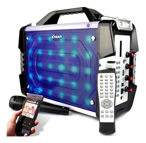 Caixa Som Mega Box Bluetooth 100w Rms Amplificada Microfone