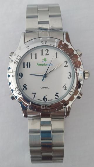 Relógio Feminino Falante Prata