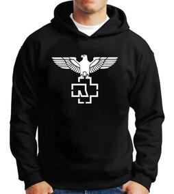 Casaco Moletom Rammstein Banda Metal Logo Blusa De Frio