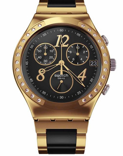 Reloj Swatch Ycg405cg Dreamnight Dorado Y Negrro Original