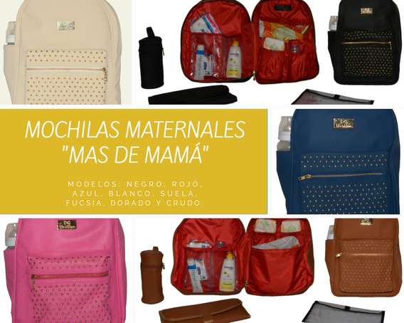 Mochila Maternal De Cuero Ecológico + Cambiador + Envío